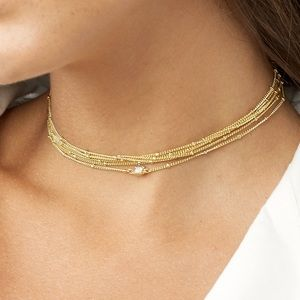 BAUBLEBAR Gold Dominique Chain Choker Necklace